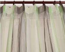 ALLBRIGHT ready made products stripe colorful green sheer curtain