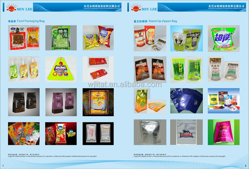 wholesale customized transparent OPP Plastic food bags for Popcorn
