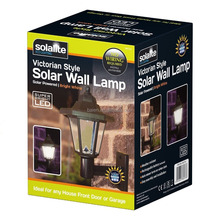 Solar Powered Victorian Style Outdoor Garden Wall Light Lanterns Lamp 2 PACK or 1 PACK