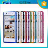 Original 0.7mm Ultra-thin Metal Bumper Aluminum case For HUAWEI P6 + Retail Package