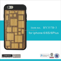 Latest Wood PC+Bamboo Case for iPhone 6s 4.7 Engraved Custom Design
