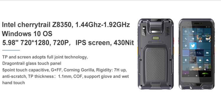 ip65 wifi 4g qr code touch screen handheld industrial android pda barcode laser scanner with free sdk
