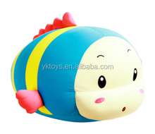 Cute fish children toy animal shape plush pillow