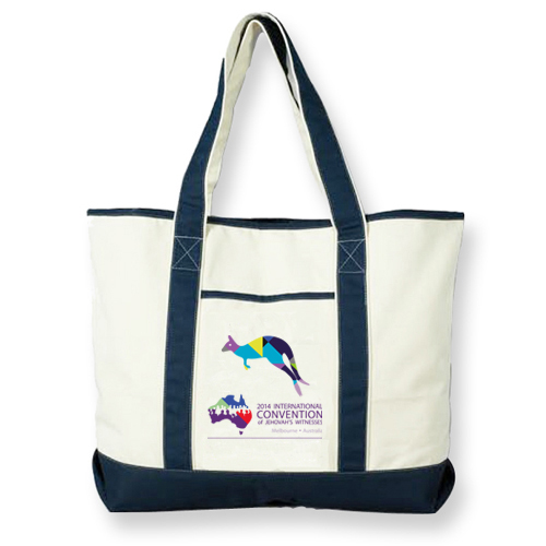 Custom promotional canvas tote shopping beach bag