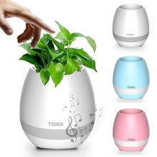 2017 New Intelligent decorative Wireless Speaker with colorful LED Light Mini Bluetooth Smart Music flowerpot K3 Flower Pot