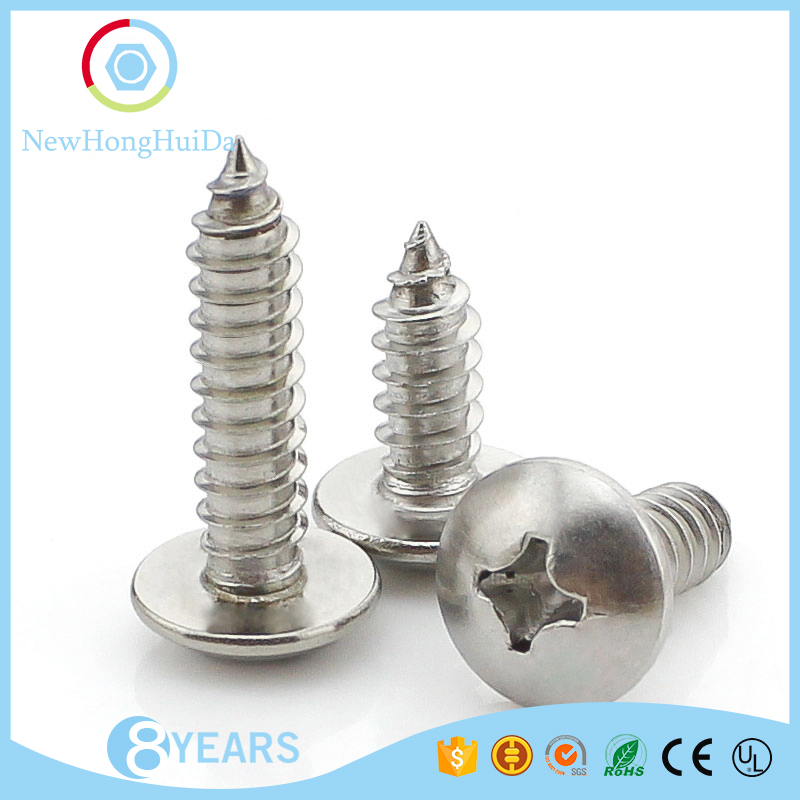 wholesale stainless steel M3 cross recessed self tapping screw
