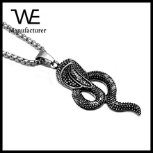 Trending Hot Products Fashion Unisex PVD Plated Stainless Steel Cobra Necklace Wholesale Jewelry