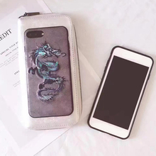 Full Protective Mobile Cover Dragon Embroidery Cell Phone Case Oriental Mobile Case For Iphone 7 Plus