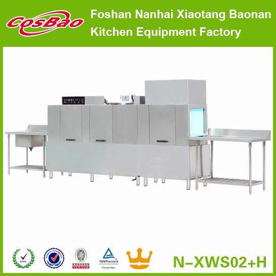 Manufacturer Commercial Stainless Steel Dishwashing Machine/Dishwasher With Dryer N-XWS02+H