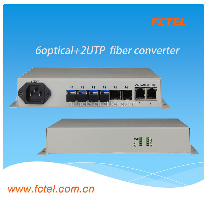 single module,1550m,8port poe switch with 2 rj45 and 6 sfp ,over gigabit ethernet switch