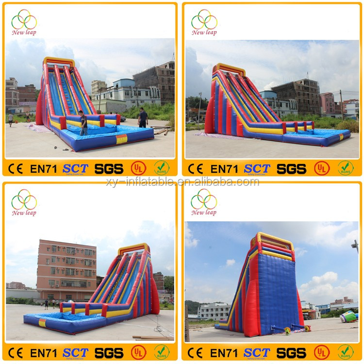 Giant inflatable water slide for top fun