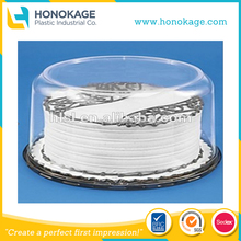 IML PP Injection Round Plastic Cake Containers High Quality Customized Clear Thick Wall Packaging