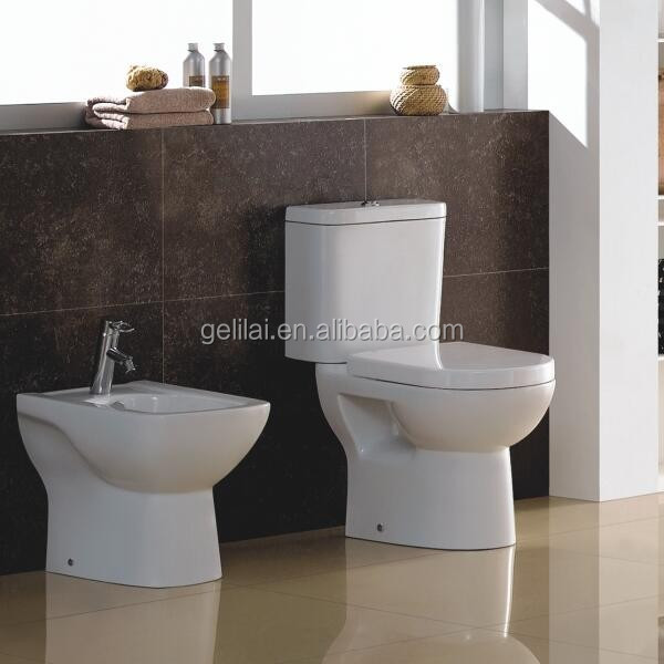 Wall hung bathroom product ceramic toilet set basin with bidet