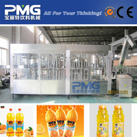 4-in-1 pet bottle fruit juice filling and packing machine for screw cap