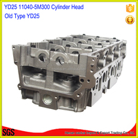16V YD25 engine Cylinder head AMC 908 505 For Nissa-n NARAVA 1998-05