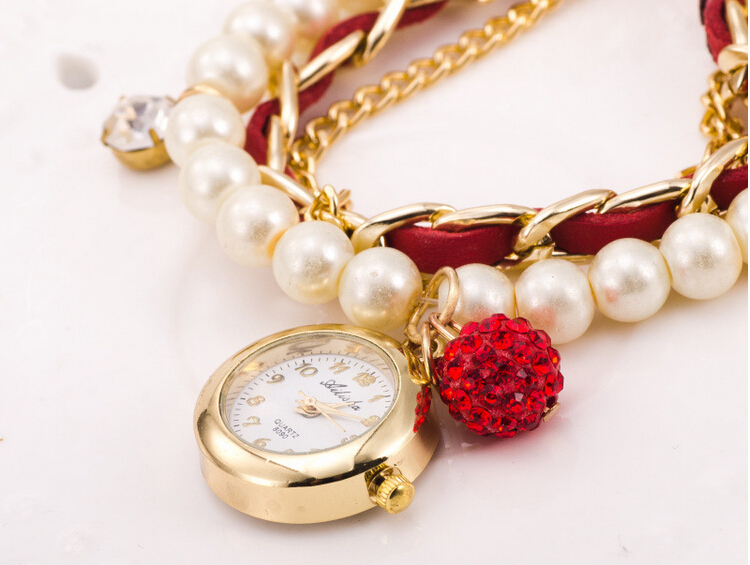 Alibaba Pearl Band Charming Smart Vogue Women Bracelet Watch In China