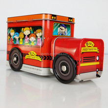 Train shaped candy tin box with wheel