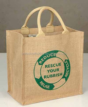 Customized Logo Wholesale Shopping Bags Jute/ Stock Fabric/ Small Liner Bag