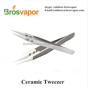 Heat Resistant Stainless Steel Ceramic Tweezers for E- Cigrettes