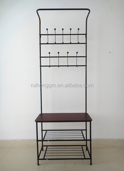 Cushion Bench Metal Foyer Hall Tree Entryway Hat Shoe Storage Coat Rack Buy Coat Rack Coat