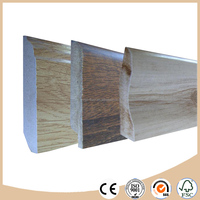 Melamine baseboard / skirting board