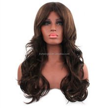 Top Quality Natural Black Long Curly Hair Wigs,Fluffy Face Women Hair Wig