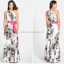 Latest Manufacturer Women Floral Printed Chiffon Maxi Dresses