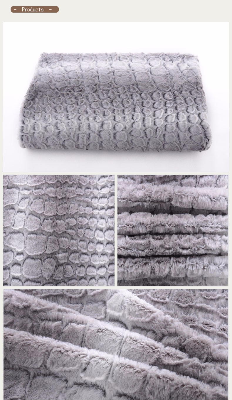 100% Polyester Microfiber Sofa Plush Fleece Fabric Price Per Meter