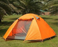 Foldable outdoor camping hiking travelling tent 3-4 person waterproof tube tent high quality