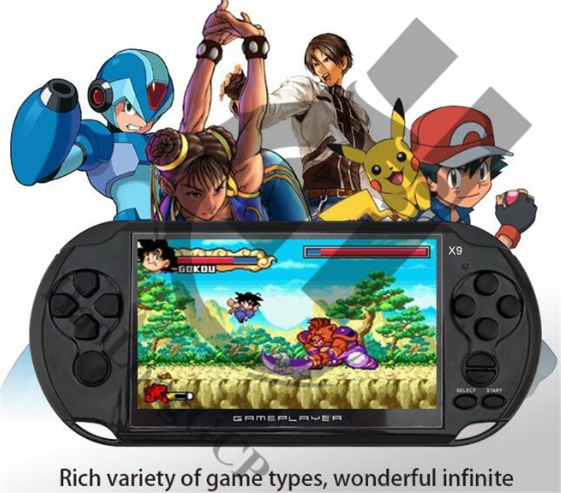 Newest 5.0 Large Screen Handheld Game Player Support TV Out Multimedia Video Game Console for GBA NES SEGA hundreds free games