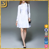 OEM clothing factory long sleeve shirt dresses, long sleeve fashion casual long maxi cotton summer fat woman dresses for women