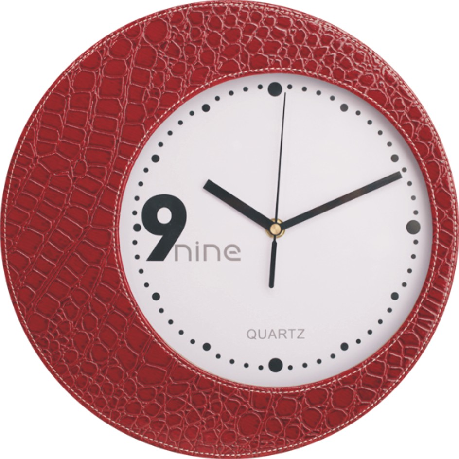New fashion luxury leather quartz clock