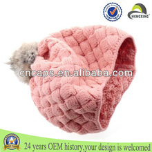 2014 Wholesale Custom Winter Bom Plain Cotton Baby Girls Beanie Hats Knitted Hats Patterns Free Crochet Baby Hat