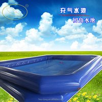 Giant blue inflatable pool adult size large inflatable swimming pool for 10x8 square meter