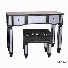 Black Venetian Mirrored Furniture Wholesale with Antique Black Finish