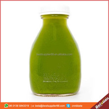 16 oz Glass Bottle China 473ml Square Juice Bottle For Juice Drink With Plastic Metal Cap