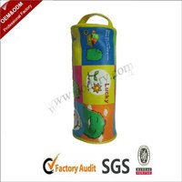 Printed round pencil pouch for kids