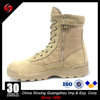 Hot Sell Cheap Khaki Middle East Split Leather Rubber Outsole Zipper Military Boots