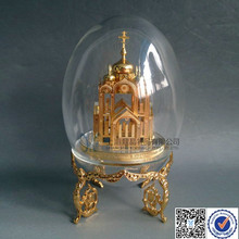Custom Design Russia Cathedral Glass In Egg Shape