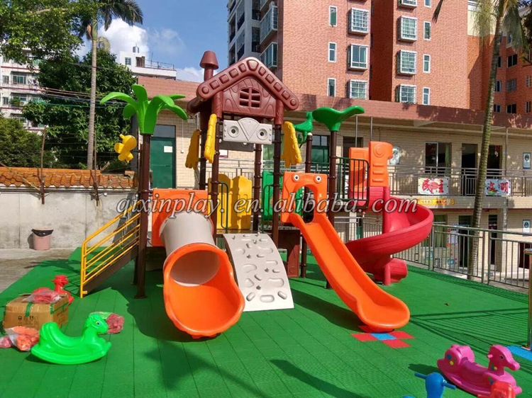 Kids outdoor activities Cheap playground slide Daycare playground game QX-18036B
