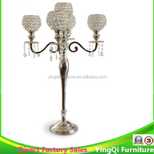 Crystal Tall 5 Arms Candelabras for Wedding Table Centerpieces