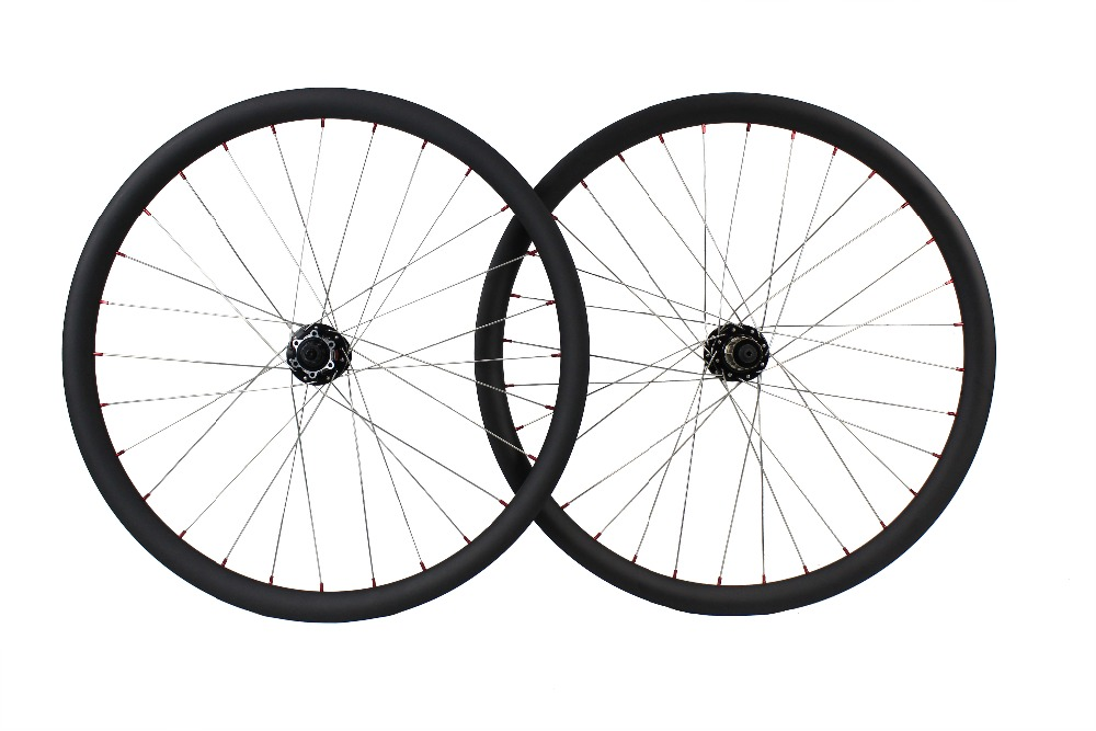 Mountain Bikes wheels 27.5er 30mm width 32mm depth T800 mtb carbon clincher wheels
