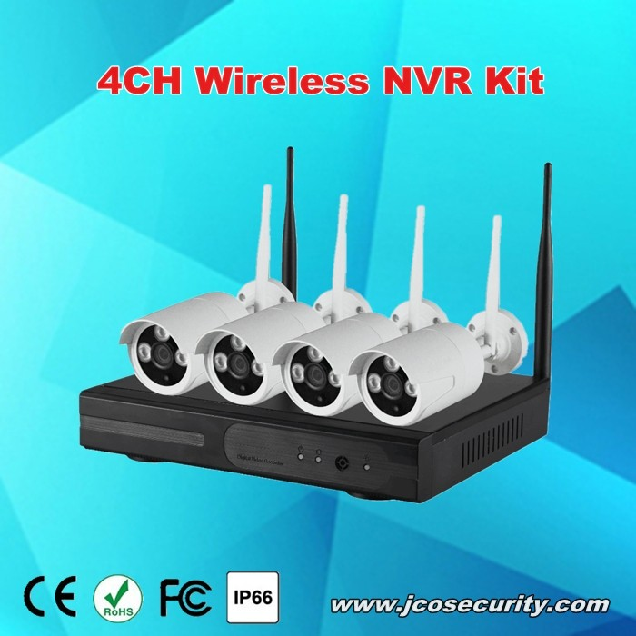 4CH 720P embedded wireless cctv dvr kit, wifi ip camera with nvr kit