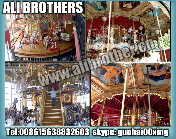 [Ali Brothers]Shopping mall Christmas Carousel For sale