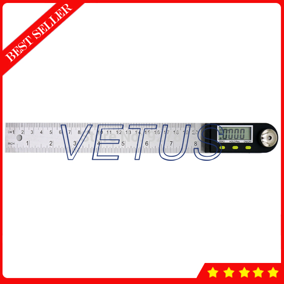 200 mm digital protractor inclinometer goniometer protractor angle finder Stainless Steel LCD Goniometer Ruler