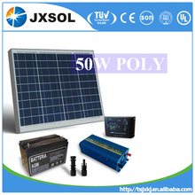 High efficiency polycrystalline photovoltaic cell solar panels 50 watt with TUV and CE certificates