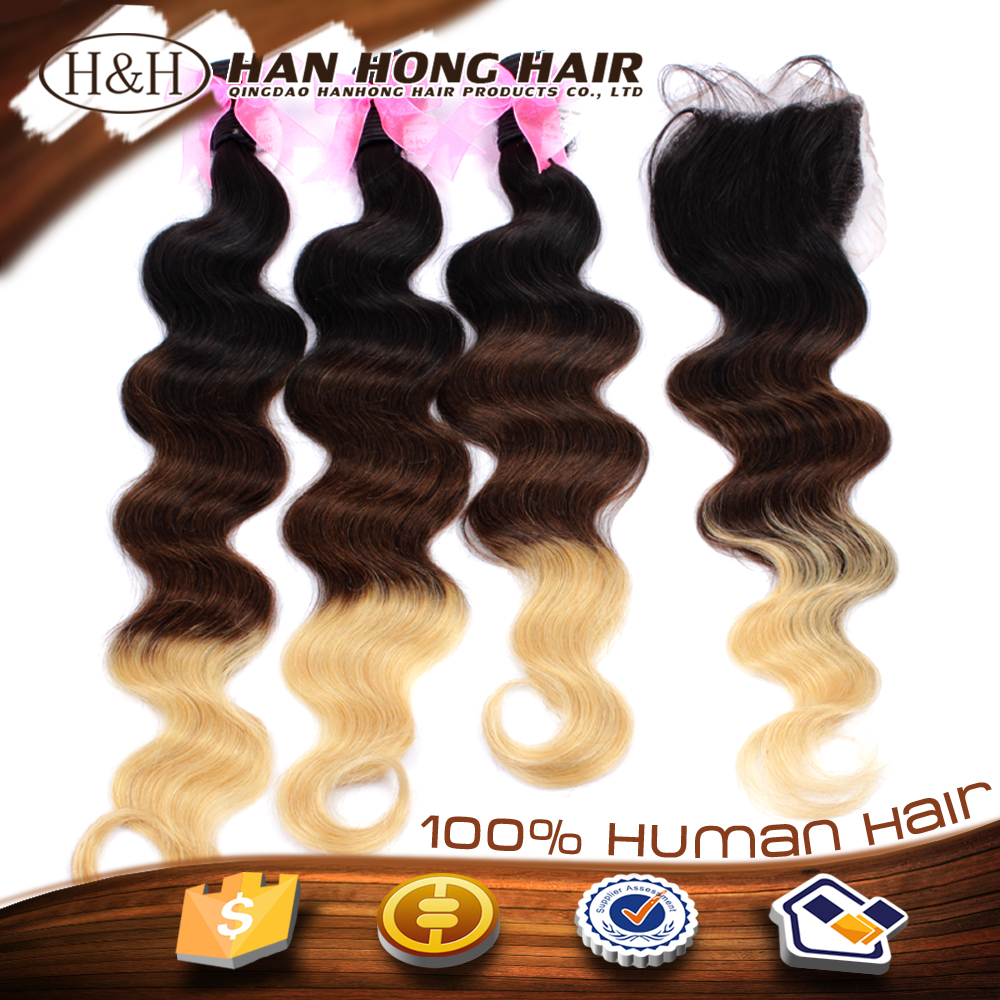 unprocessed hair thick virgin hair 3 bundles multi-colored braiding hair