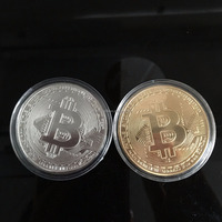 bitcoin zinc iron brass pressing gold silver copper cryptocurrency coins