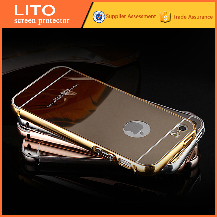 Luxury Aluminum Metal Bumper PC Back mobile cover for iphone 5c case