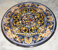 Round Pietra Dura Marble Table Top